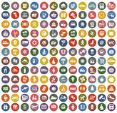 цвет 144 значков ретро Стоковые Фотографии RF