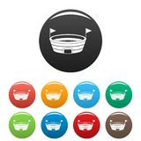 Цвет значков Спорт-арены бега установленный бесплатная иллюстрация