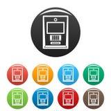 Цвет значков Atm установленный бесплатная иллюстрация
