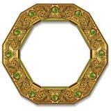 Цвет золота рамки с тенью Стоковые Изображения