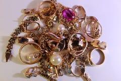 Цвет золота ювелирных изделий крупной партии Стоковая Фотография RF