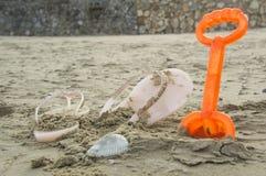цвет игры игрушки инструмента песка земной оранжевый Стоковая Фотография