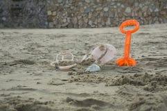 цвет игры игрушки инструмента песка земной оранжевый Стоковые Изображения