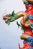 Цвет искусства дракона Китая Стоковая Фотография