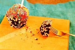 Цвет и отбензинивание яблока конфеты Стоковое Изображение