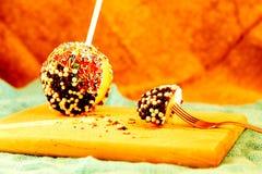 Цвет и отбензинивание яблока конфеты Стоковые Фото