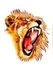Цвет иллюстрации искусства льва бесплатная иллюстрация