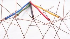 цвет кабеля с изменения Стоковое фото RF