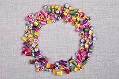 Цвет карамельки конфеты предпосылки, рамка Стоковое фото RF
