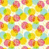 Цвет картины абстрактный с кругами Стоковая Фотография RF