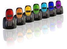 цвет коллажа много телефонов радуги Стоковые Изображения RF
