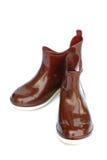 Цвет коричневого цвета резинового ботинка Стоковая Фотография