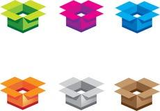 цвет коробок Стоковая Фотография RF