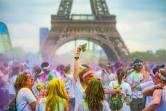 Цвет, который побежали в Париже - Франции Стоковая Фотография