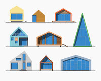 Цвет крошечных домов линейный 1 Стоковое Изображение