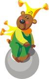 цвет медведя 11 шарика иллюстрация вектора