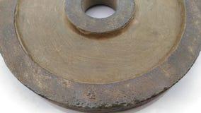Цвет металлического листа полируя с некоторого появляется ржавая старая поясом стоковые фото