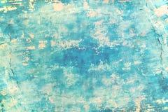Цвет моря пустой бетонной стены grunge голубой стоковое фото rf