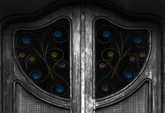 Цвет на двери Стоковая Фотография RF