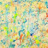 Цвет на стене Стоковая Фотография