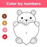 Цвет номерами для детей preschool Стоковые Фотографии RF
