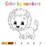 Цвет номерами E Жизнерадостный характер r Милый стиль мультфильма o Страница фантазии бесплатная иллюстрация