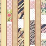 Цвет орнамента цветочного узора вертикального дизайна заплатки безшовный Стоковые Изображения RF