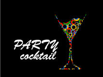 Цвет партии коктеиля Стоковые Изображения