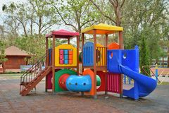 Цвет потехи спортивной площадки для детей Стоковая Фотография RF
