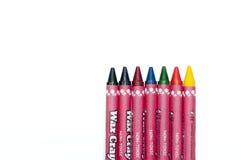 цвет предпосылки crayons белизна Стоковое Изображение