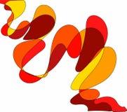 Цвет предпосылки красный, желтый, апельсин Стоковые Фото