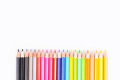 цвет предпосылки покрасил изолированные карандаши карандаша белым стоковая фотография rf