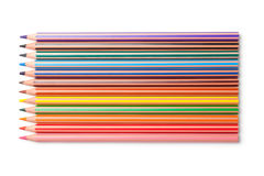 цвет предпосылки покрасил изолированные карандаши карандаша белым Стоковые Изображения RF