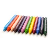 цвет предпосылки покрасил изолированные карандаши карандаша белым Стоковое фото RF