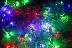 Цвет привел света и кабели стоковое фото rf