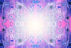 Цвет пурпура конспекта монтажной платы бесплатная иллюстрация