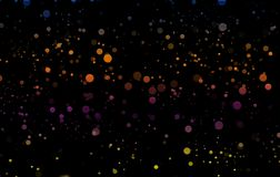 Цвет распыливает на черной предпосылке Влияния Bokeh конструируют иллюстрация вектора