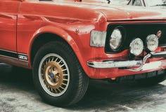 цвет ралли Фиат 128 красный Стоковая Фотография