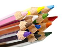 Цвет рисовал детали, материал искусства школы стоковое фото