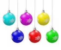 цвет рождества шариков Стоковое Изображение RF