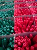 Цвет ручки шариковой авторучки, селективный фокус концепция подготовки для начала академического года стоковая фотография rf