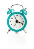 Цвет сини будильника Изолировано на белизне Стоковое Фото