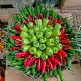 Цвет сладостного перца зеленый и красный Стоковое Изображение