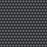 Цвет снежинки рождества белый на картине черной предпосылки безшовной Стоковая Фотография