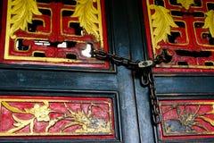 Цвет старой деревянной двери Стоковое Изображение