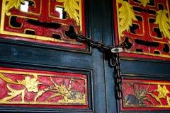 Цвет старой деревянной двери Стоковые Фото