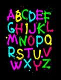 Цвет, славный шрифт Стоковая Фотография