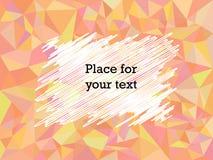 Цвет текстуры мозаики полигона конспекта геометрический красный с подтекстами Насиживающ, космос рамки для текста r иллюстрация штока
