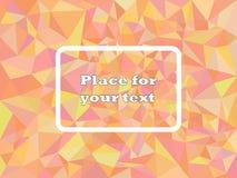 Цвет текстуры мозаики полигона конспекта геометрический красный с подтекстами С квадратной рамкой для текста также вектор иллюстр иллюстрация штока