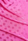 Цвет ткани сатинировки яркий розовый волны Стоковая Фотография RF